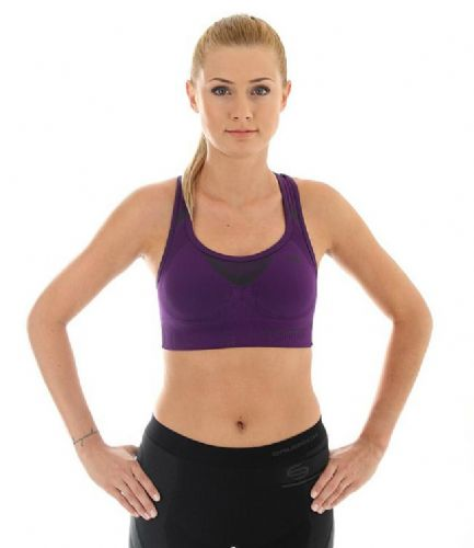 Brubeck Fitness - Ladies Crop Top -  Purple - RRP £21 Our Price...